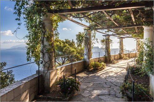 Póster 91 x 61 cm: Garden of The Villa San Michele (Capri, Italy) de Christian Müringer - impresión artística, Nuevo póster artístico: Christian Müringer: Amazon.es: Hogar