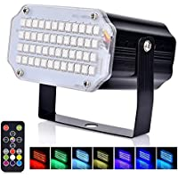 Zijne Kerstmis LED Mini Strobe Licht, Flash Party Stage Geluid Geactiveerde Lampen, 48 RGB Speed Control Lights voor DJ…