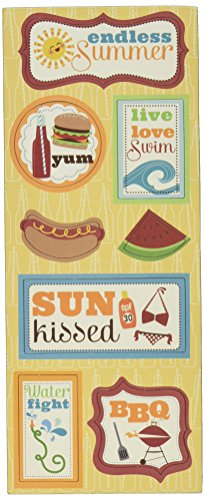 Imaginisce Endless Summer Chipboard Stickers 4.75