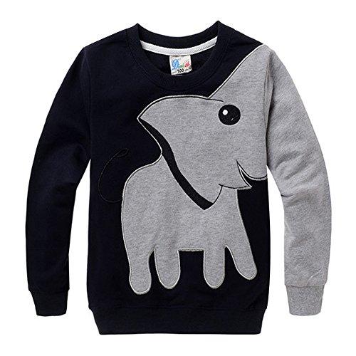 MIOIM Fashion Kids Boys Lucky Cartoon Elephant Pullover Tops T-Shirt Sweatshirt (Home Rugby Shirt Australia)