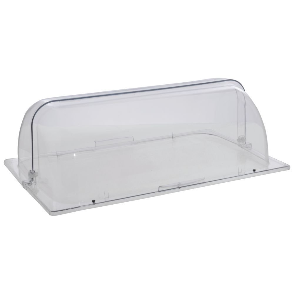 Chafing Dish Cover Full Size Clear Polycarbonate Rolltop- 21'' L x 13'' W x 7'' H
