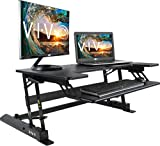VIVO Height Adjustable Standing Desk Sit to Stand Gas Spring Riser Converter | 36