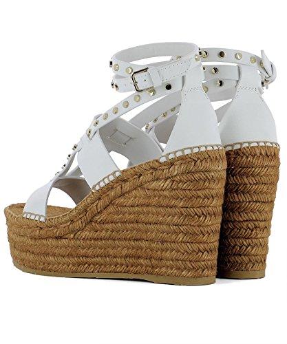Jimmy Blanc DANICA110VWSWHITEGOLD Cuir Chaussures Compensées Choo Femme TwPqr7T