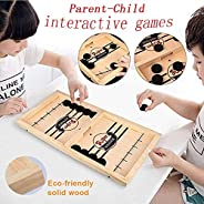 moopok Fast Sling Puck Game ,Slingshot Games Toy,Table Hockey Party Game,Wood Tables Family Games,Winner Board