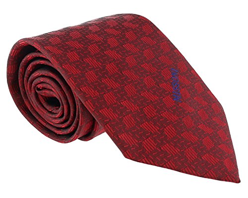- Missoni Abstract Red Woven 100% Silk Tie for mens