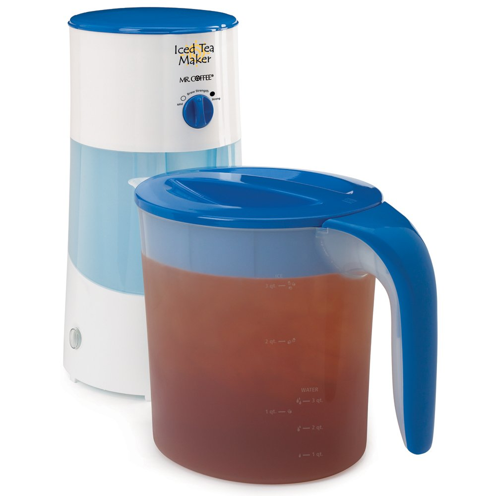 Mr. Coffee TM70 3-Quart Iced Tea Maker, 3-Quart, Blue