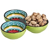 Abbott Collection Home Colourful 3 Section Dish-6.5-Inch
