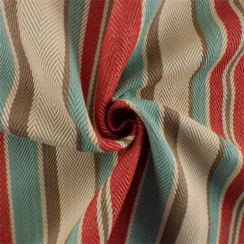 Red/Multi Herringbone Stripe Home Decorating Fabric, Fabric by The Yard