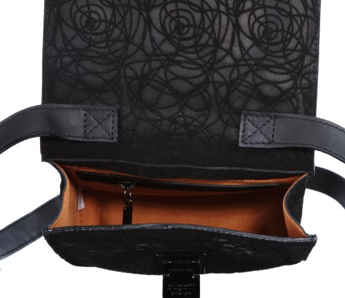 Bugatti Bags Borsa Messenger Marlene, nero – Schwarz (schwarz 01), 496707 Schwarz (Schwarz 01)