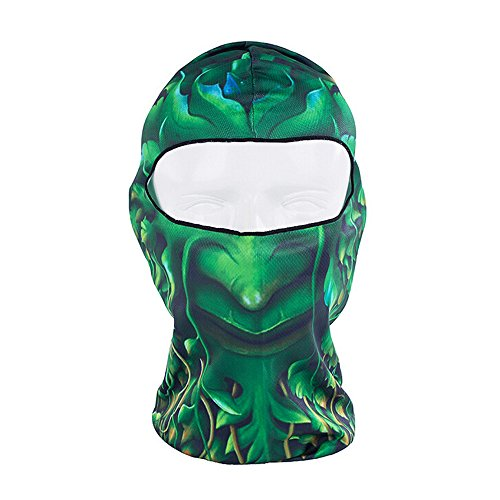 Ezyoutdoor Full Face Motorcycle Bicycle Bike Skull Mask Snowmobile Hood Neck Balaclava Hat Animal Outdoor Sport Cosply Costume