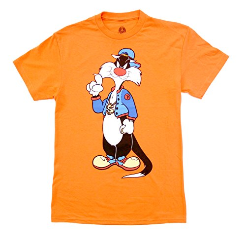 Looney Tunes Hip Sylvester Front and Back Adult T-Shirt (Adult X-Large) ()