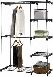 Amazon Com Iuhome Double Rod Freestanding Closet