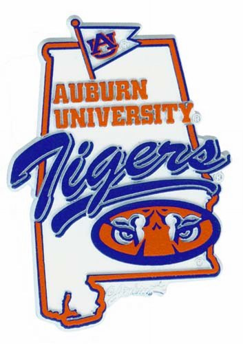 NCAA Auburn Tigers 2D Mascot Map Magnet