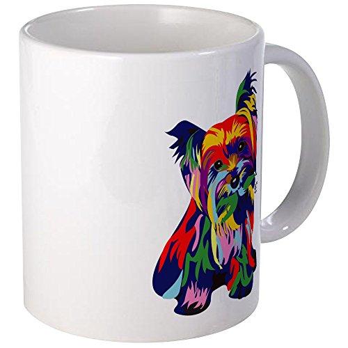 CafePress - Bright Rainbow Yorkie Mug - Unique Coffee Mug, Coffee Cup