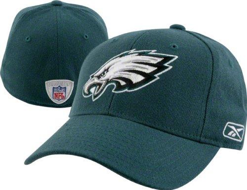 Philadelphia Eagles Reebok Fitted 7 3/8 Curved Bill Hat Cap