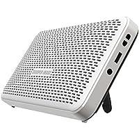 Sharper Image SBT624WH Super Slim Wireless Bluetooth Speaker, Super Light Weight (White)