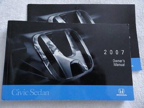 2007 honda civic sedan owners manual honda amazon com books rh amazon com owners manual honda civic 2007 honda civic 2007 owners manual pdf