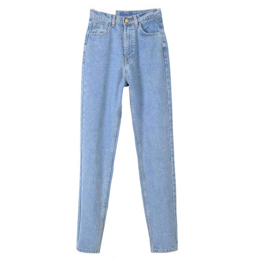 Light bluee FSDFASS Jeans Plus Size Zipper Jeans Women with High Waist Washed Loose Harem Pants Spring Trousers for Women Jeans