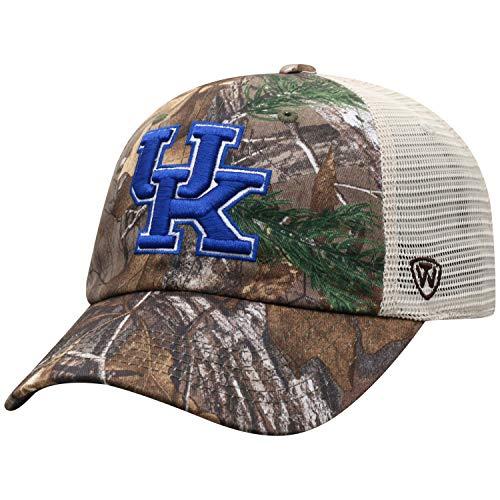 NCAA Kentucky Wildcats Men's Camo Stock Adjustable Mesh Icon Hat, Real Tree ()