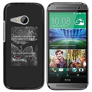PC/Aluminum Funda Carcasa protectora para HTC ONE MINI 2 / M8 MINI love heart rain quote red poster hands / JUSTGO PHONE PROTECTOR