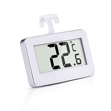 stlstt Mini frigorífico termómetro – termómetro digital resistente al agua congelador habitación con gancho multiusos para