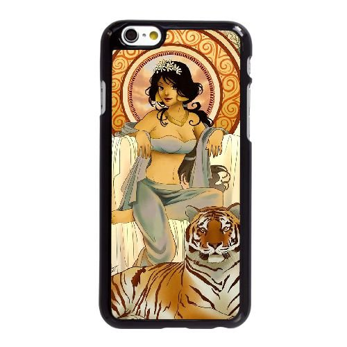 U5K78 Disney Aladdin et Jasmine L7M5UV coque iPhone 6 4.7 pouces cas de couverture de téléphone portable de coque IK3WWL4OS noirs