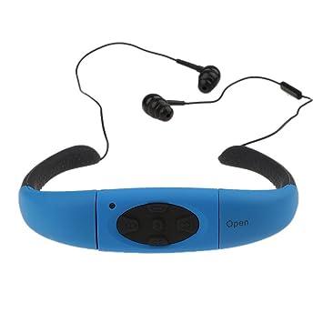 bc29af8eade iPhone X Stylish Earphones with Microphone,elecfan Bluetooth Waterproof  Headset Swimming Headphone Neckband for Women