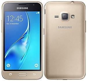 Samsung Galaxy J1 (2016) Duos SM-J120H/DS 8GB Dual SIM Unlocked GSM Smartphone - International Version, No Warranty (Gold)