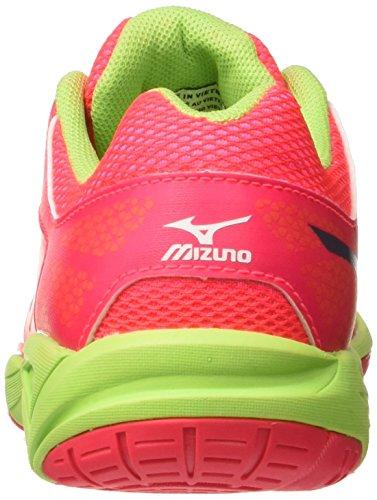 Mizuno Exceed Star Jnr - Zapatillas de tenis Unisex Niños Multicolore (DivaPink/Periscope/BrightLimeGreen)