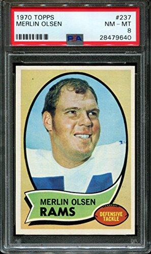- 1970 Topps #237 Merlin Olsen PSA 8 NM-Mint LA Rams
