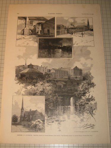 ngravings (2) of Lynchburg, Virginia (Virginia Engraving)