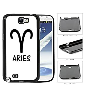 Aries Horoscope Sign Symbol Black and White Hard Snap on Phone Case Cover Samsung Galaxy Note 2 N7100