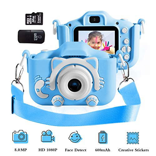Camera for Kids Kids Camera for Girls Birthday Gifts HD 2.0 Inches IPS Screen Kids Video Camera Anti-Drop Children Selfie Toy Camera Child Dightal Camera for 3-14-Year-Old with Safe Soft Silicone Case