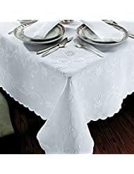 Patrician Tablecloths White On White 106 Round