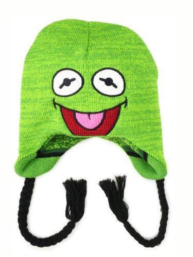 (Disney Men's Muppets Kermit Reversible Stripe Peruvian, Green, One Size)