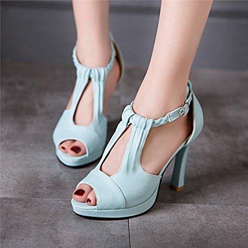 Platform Azzurro MissSaSa Sandali Elegante Donna con xRYwvqtw