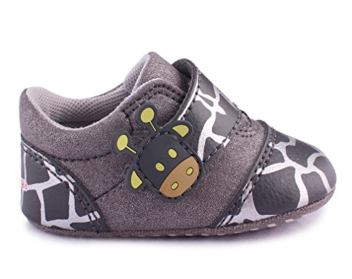 Giraffe Chaussures Infantile Enfant Bébé Lowcut Cartoonimals Chaussons Black qUZSOwc1