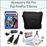 16GB Accessory Package Including 16GB SDHC High Speed Memory Card with Card Reader, Case for Fuji FinePix S Series, Mini HDMI Cable and Opteka 5 Piece Lens Cleaning Kit for Fuji FinePix s2800, s2950, s3200, s4000 and HS20EXR Digital Cameras
