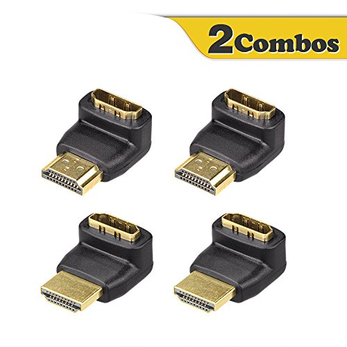 Right-Angle HDMI Male to Female Adapter Black - 4