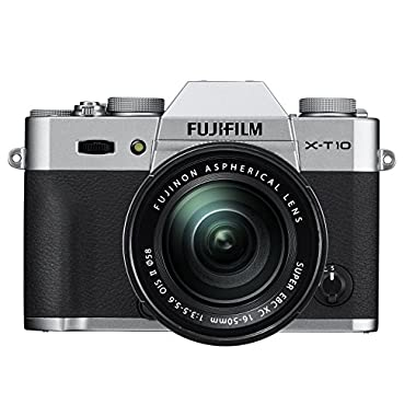 Fujifilm X-T10 Silver Mirrorless Digital Camera Kit with XC16-50mm F3.5-5.6 OIS II Lens