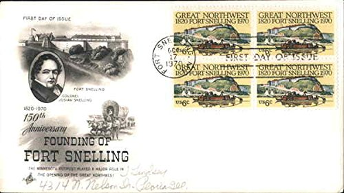150th Anniversary Founding of Fort Snelling 1820-1970 Original First Day Cover - 1820 Original Antique