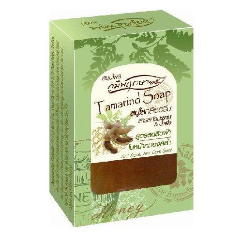 Poompuksa 15 : Tamarind & Honey Glycerin Clear Soap Bar Help Skin to be Healthy, Oil Control Balance 2.82 Oz....