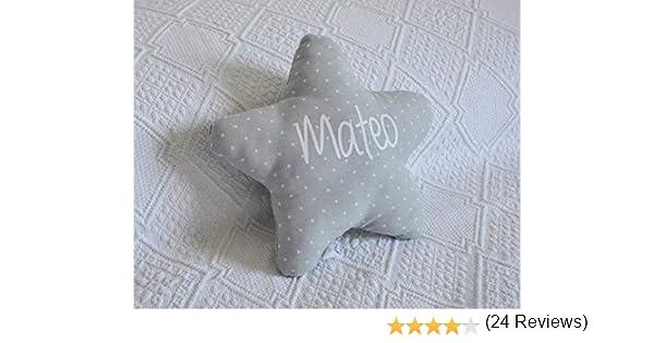 Cojín estrella para bebé personalizado. Un regalo original, decorativo y personalizado. Un bonito detalle para celebrar la llegada de un recién ...