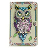 Galaxy Tab E 9.6 Case,[360 Protection]Cute Owl Design Slim Fit Flip Folio PU Leather Wallet Stand Shockproof Cover with [Kickstand]Card Slots Pocket for Galaxy Tab E/Tab E Nook 9.6 Inch T560