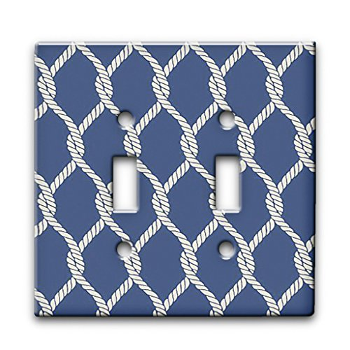 (Nautical Rope - Decor Double Switch Plate Cover)