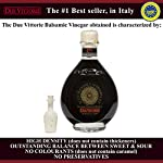 Due Vittorie Oro Gold Balsamic Vinegar of Modena. Highest score from The Consortium of Modena With Cork Pourer - 250ml 24 🍷 The number one bestselling Balsamic Vinegar in Italy. 🍷 Tastes great on meat, cheese, fish, salads, strawberries, or even vanilla ice cream. 🍷 Comes with a free Cork Pourer, Makes A Perfect gift / cooking ingredient for home chefs.