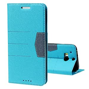 Changeshopping 1PC Fashion Leather Bling Glitter Wallet Flip Case Cover For HTC ONE 2 M8 (Blue)