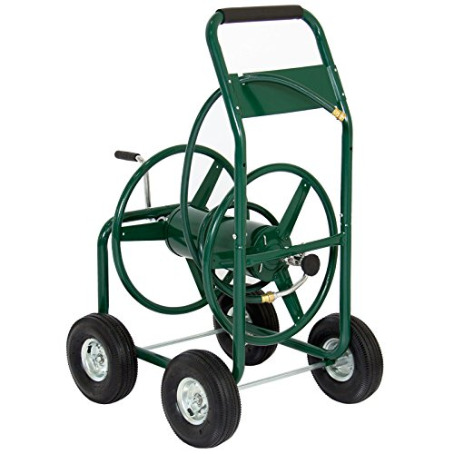 Reel Depot Hose Home (XtremepowerUS Garden Water Hose Reel Cart 300 FT Outdoor Heavy Duty Yard Water Planting)