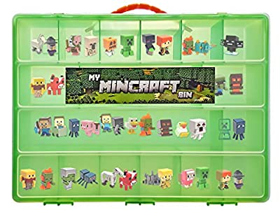 Minecraft Mini Figure Compatible Storage Case with Carrying Handle- My Mincraft Bin Carrying Case Holds 100's of Minecraft Mini Figures, Great for Minecraft Mini Figure Collectors