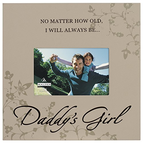 Malden International Designs Daddy's Girl Storyboard Wood Picture Frame, 4x6, - Frame Little Girl Daddys